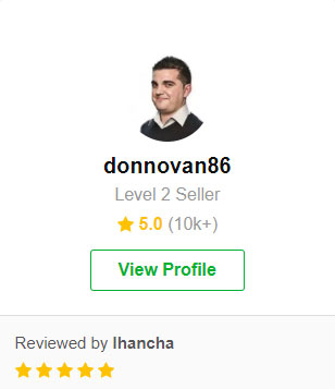 donnovan86 seller level 2 fiverr